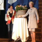 HRH Princess Benedikte baptizing the Inner Wheel Forever rose
