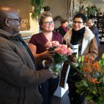 Visit at flower shop in Denmark
