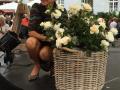 Rosa med sin nye skønne duftende Haverose der endnu ikke har navn