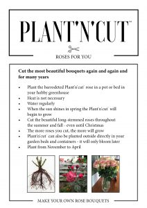 Plant'n'cut care instructions